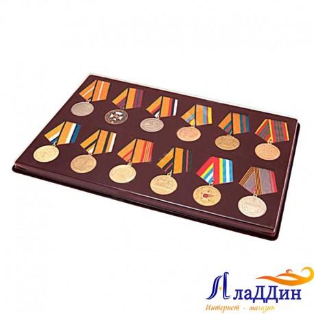 Планшет для 12 медалей. D-37 мм с пятиугольной колодкой