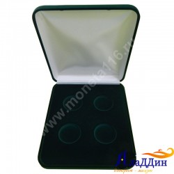 Бархатная коробка для 4 монет