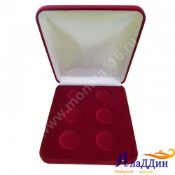 Бархатная коробка для 6 монет