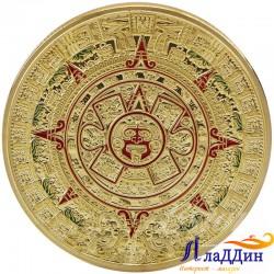 Майя пәйгамбәрлек итүенә багышланган тәңкә. Ацтек алтыны