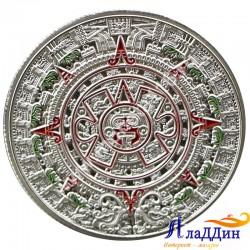 Монета пророчества Майя. Ацтекское золото. Посеребрение