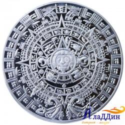 Монета пророчества Майя. Посеребрение
