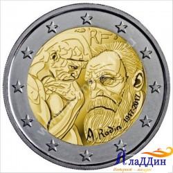 2 евро. 100 лет со дня смерти Родена