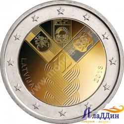 2 евро. 100-летие независимости прибалтийских государств. Латвия