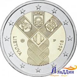 2 евро. 100-летие независимости прибалтийских государств. Литва