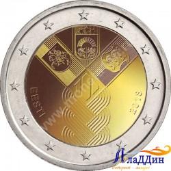 2 евро. 100-летие независимости прибалтийских государств. Эстония