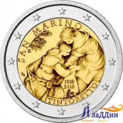 2 евро. 500 лет со дня рождения художника Тинторетто