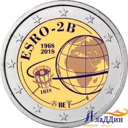 2 евро. 50-летие запуска первого европейского спутника ESRO 2B