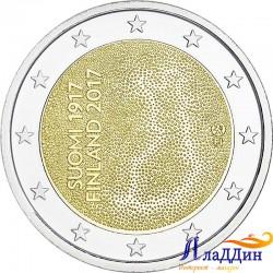 2 евро. Финляндия бәйсезлегенә 100 ел.