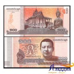 Банкнота 10 риелей Камбоджа