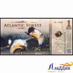 1 доллар Атлантик урманы кәгазь акчасы