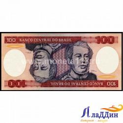 Банкнота 100 крузейро Бразилия