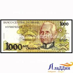 Банкнота 1000 крузейро Бразилия