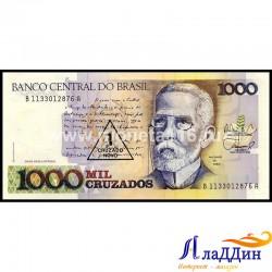 Банкнота 1 новый крузадо Бразилия