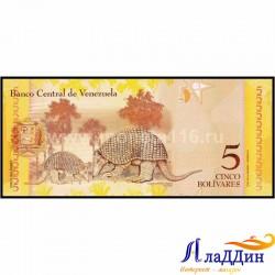 Банкнота 5 боливаров Венесуэла