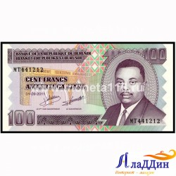 Банкнота 100 франков Бурунди