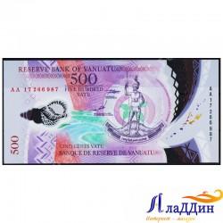 Банкнота 500 вату Вануату. Пластик
