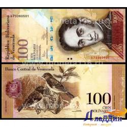 Банкнота 100 боливаров Венесуэла