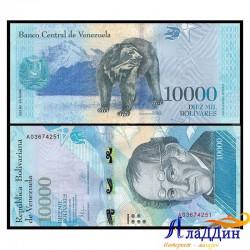 Банкнота 10 000 боливар Венесуэла