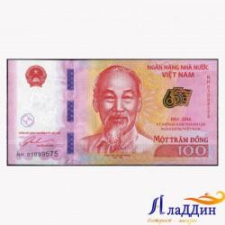 Банкнота 100 донг Вьетнам. 2016 год