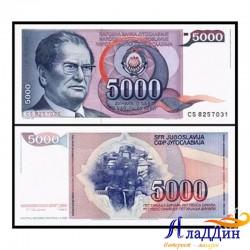 Банкнота 5000 динар Югославия