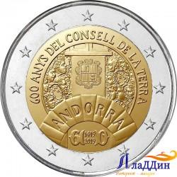 2 евро. 600-летие Совета Земли. 2019 год